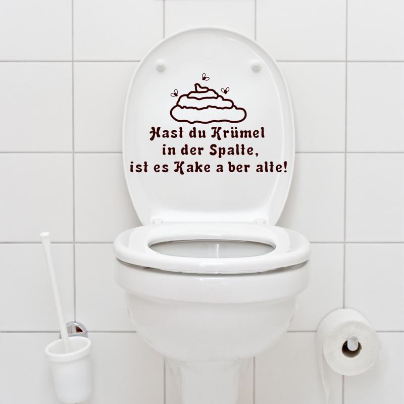 Sticker Citation Wc Kast Du Kr Mel In Der Spalte