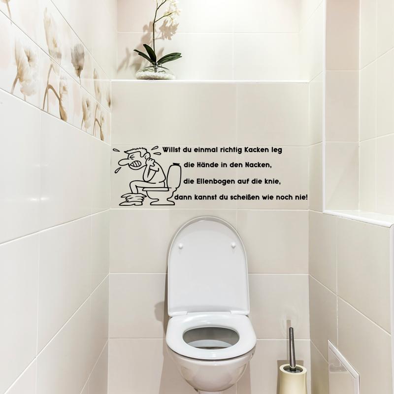 sticker citation wc willst du einmal richtig kacken leg stickers citations allemand ambiance. Black Bedroom Furniture Sets. Home Design Ideas