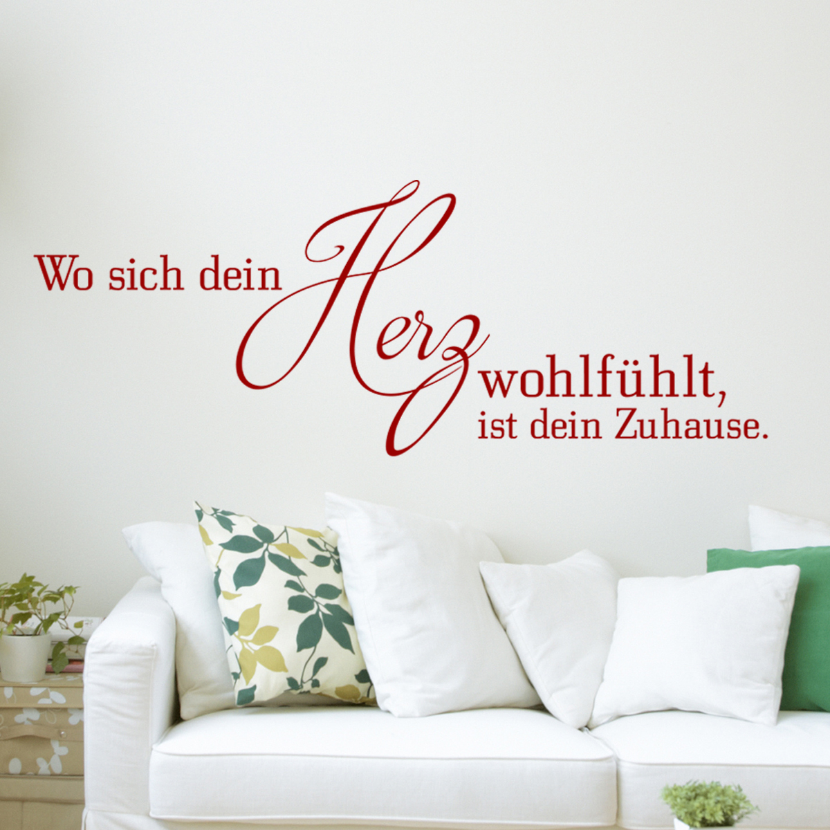 sticker citation wo sich dein herz wohlf hlt stickers. Black Bedroom Furniture Sets. Home Design Ideas