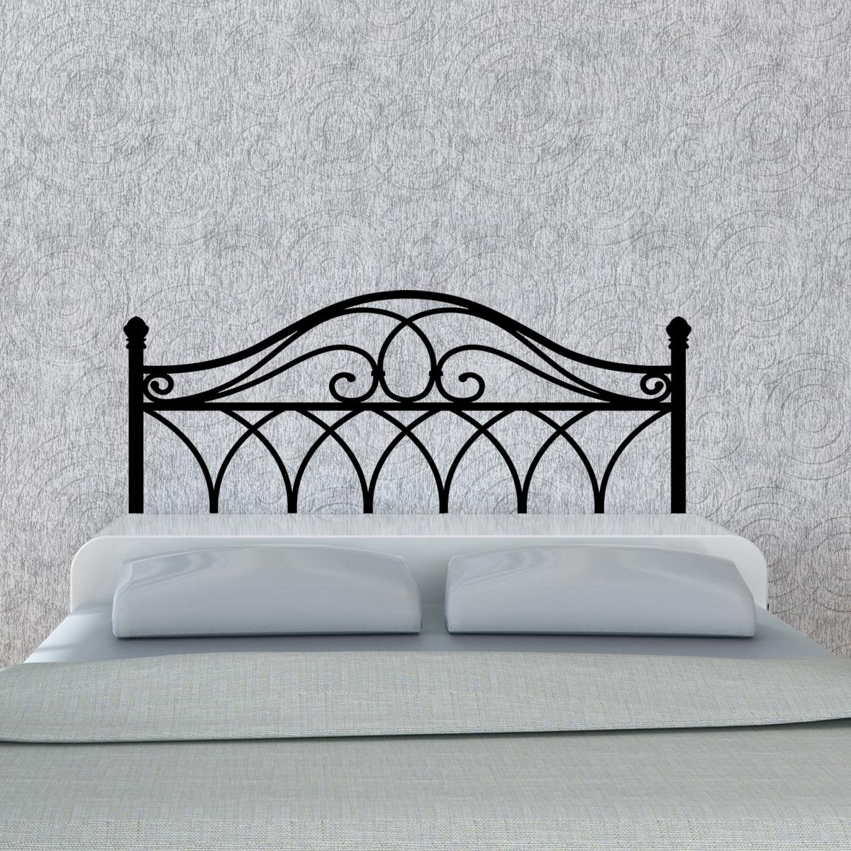 stickers muraux t tes de lit sticker mural classique fer t te ambiance. Black Bedroom Furniture Sets. Home Design Ideas