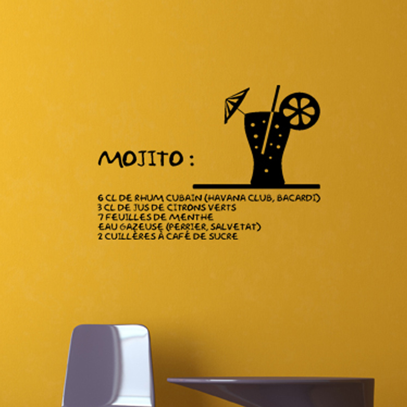 Stickers muraux pour la cuisine sticker mohito - Stickers pour la cuisine ...