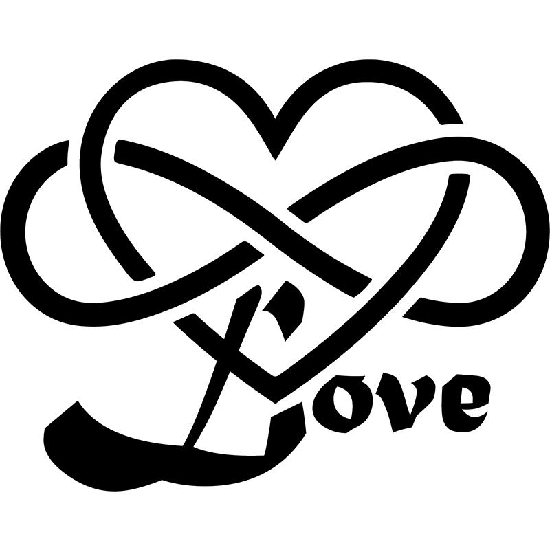sticker coeur artistique love et infini stickers f tes stickers saint valentin ambiance sticker. Black Bedroom Furniture Sets. Home Design Ideas