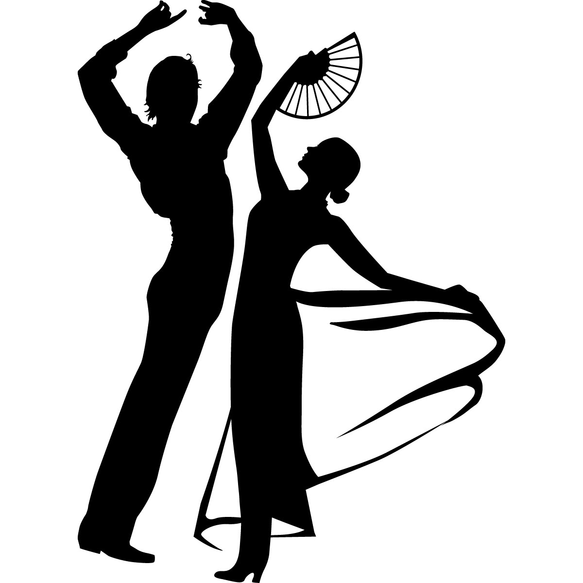 stickers muraux de silhouettes et personnages sticker dancing silhouette vector dancer silhouette vector file