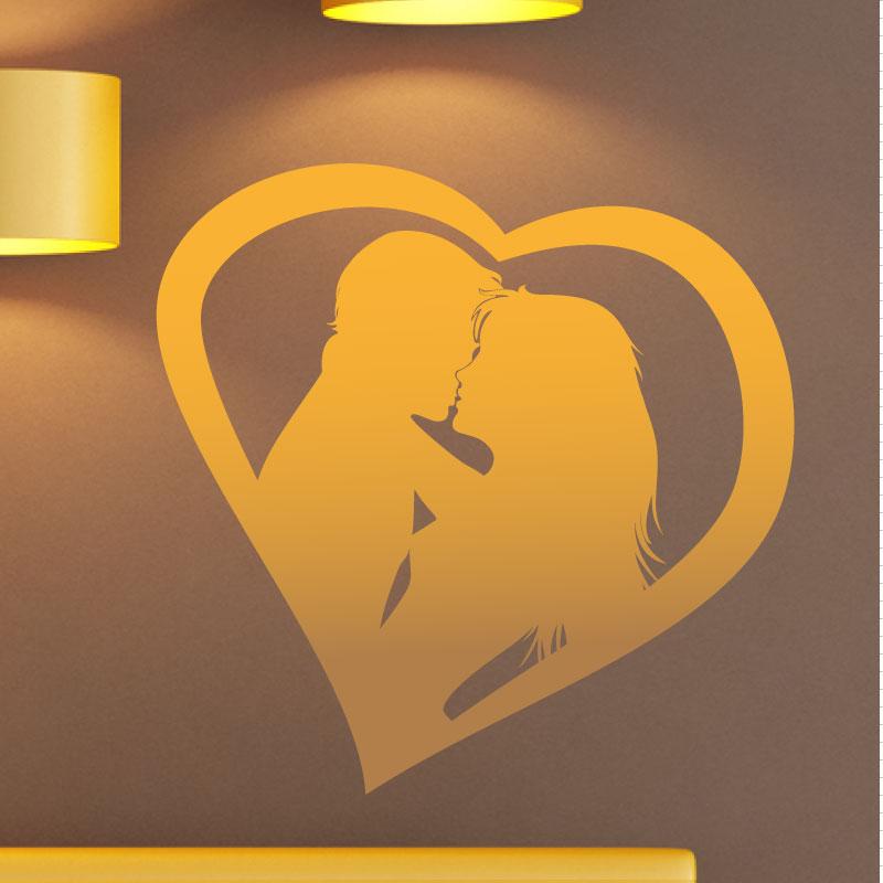 Stickers muraux pour chambre sticker mural couple se for Stickers om pour chambre