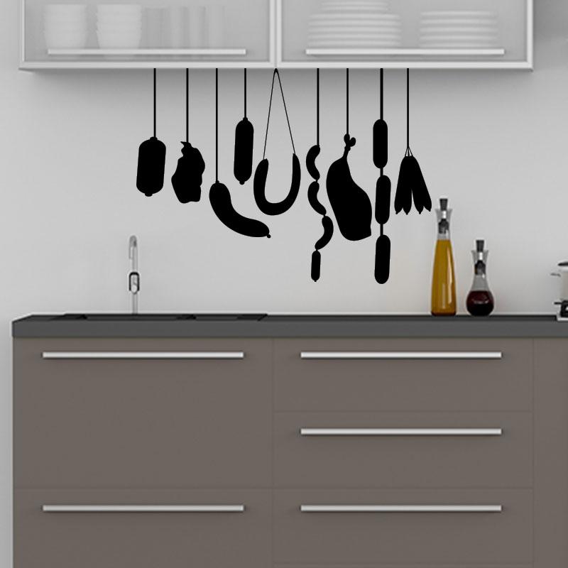 sticker cuisine citation d licieux et app tissant charcuterie stickers cuisine nourriture et. Black Bedroom Furniture Sets. Home Design Ideas