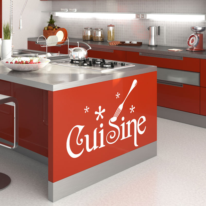 Sticker cuisine design stickers cuisine textes et for Stickers cuisine design