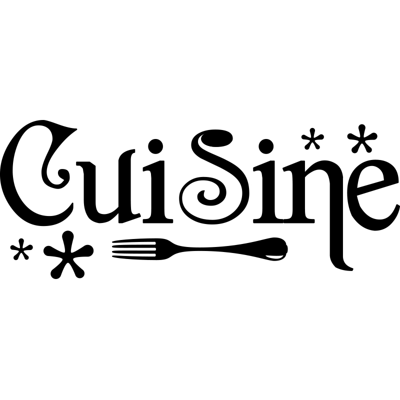 Sticker cuisine design stickers cuisine textes et for Sticker mural cuisine