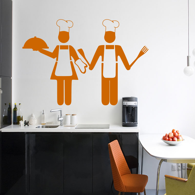 sticker cuisine design adorable petits chefs stickers cuisine ustensiles ambiance sticker. Black Bedroom Furniture Sets. Home Design Ideas