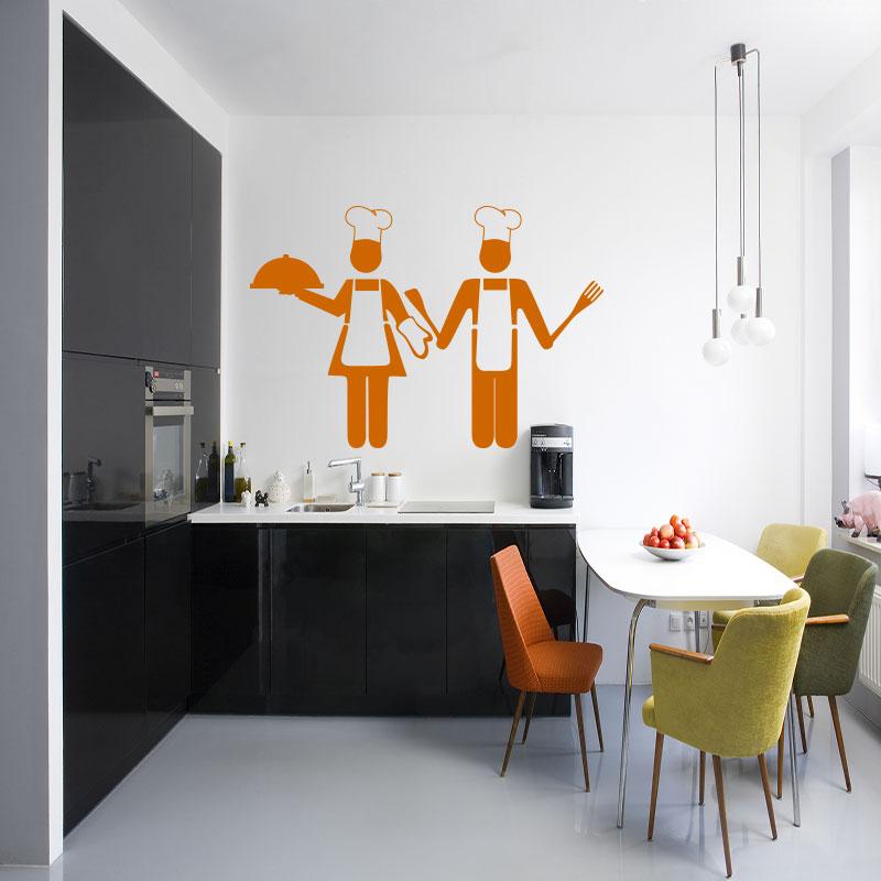 sticker cuisine design adorable petits chefs stickers cuisine ustensiles ambiance sticker. Black Bedroom Furniture Sets. Home Design Ideas