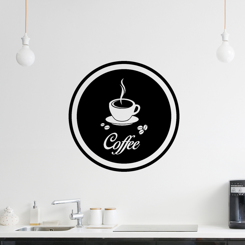 sticker cuisine design coffee stickers cuisine caf et th ambiance sticker. Black Bedroom Furniture Sets. Home Design Ideas