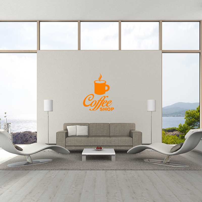sticker cuisine design coffee shop stickers cuisine caf et th ambiance sticker. Black Bedroom Furniture Sets. Home Design Ideas