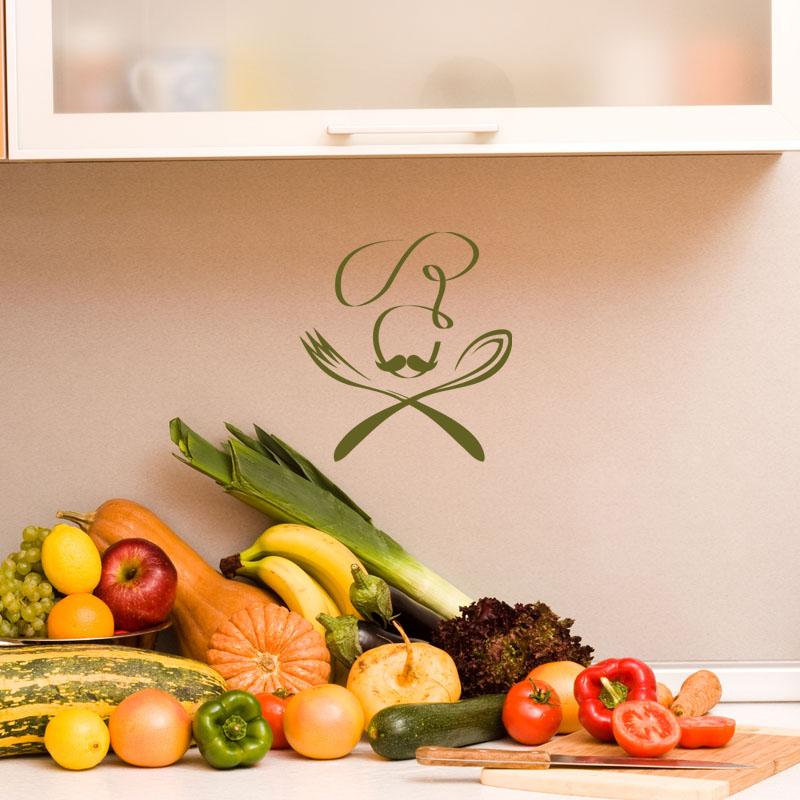 sticker cuisine design fourchette et cuill re stickers art et design artistiques ambiance. Black Bedroom Furniture Sets. Home Design Ideas