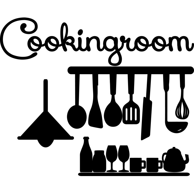 sticker cuisine design majestieux cookingroom stickers citations anglais ambiance sticker. Black Bedroom Furniture Sets. Home Design Ideas