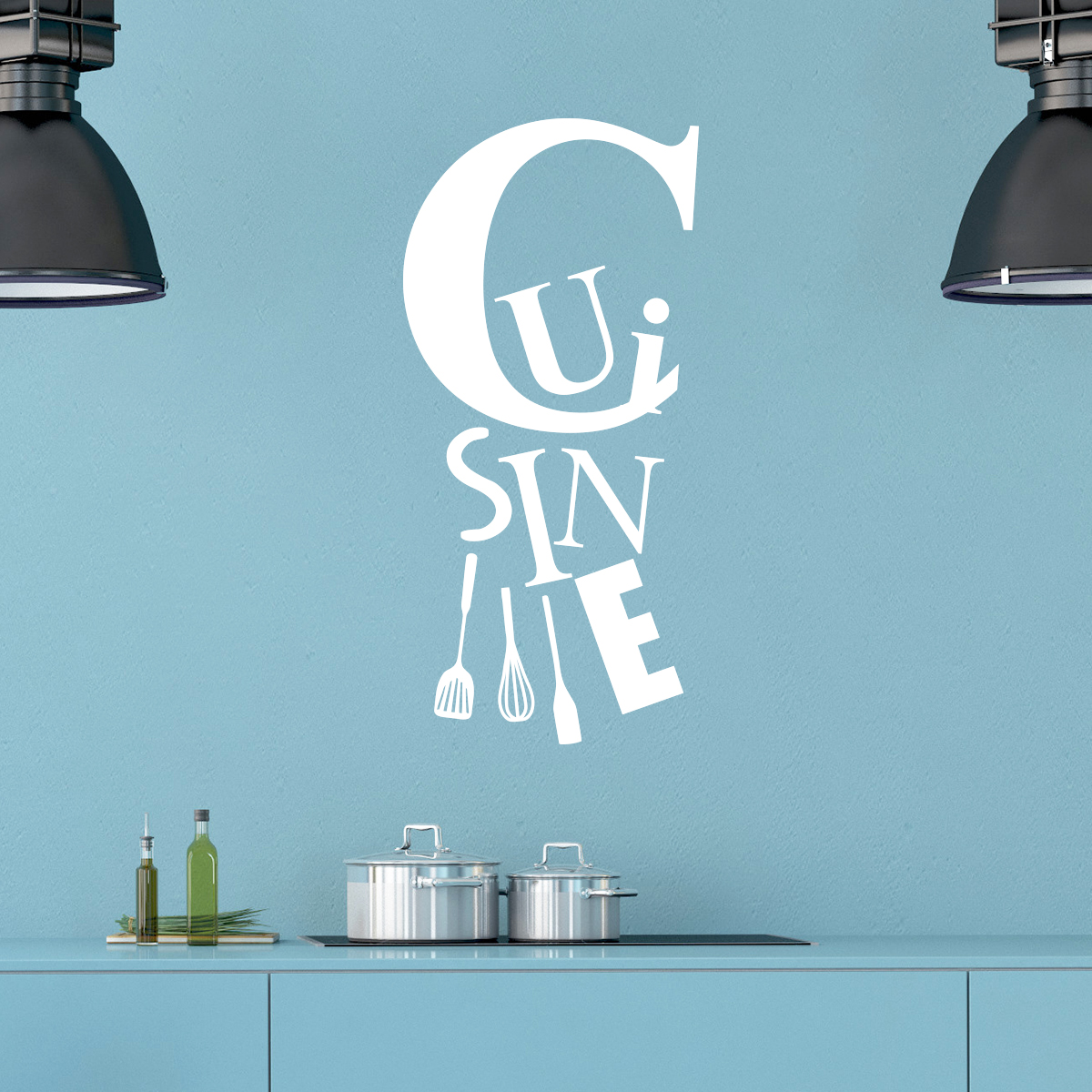 sticker cuisine et les ustensiles stickers cuisine ambiance sticker. Black Bedroom Furniture Sets. Home Design Ideas