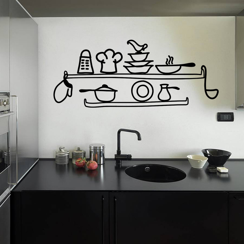 sticker cuisine etag re de cuisine stickers cuisine ustensiles ambiance sticker. Black Bedroom Furniture Sets. Home Design Ideas
