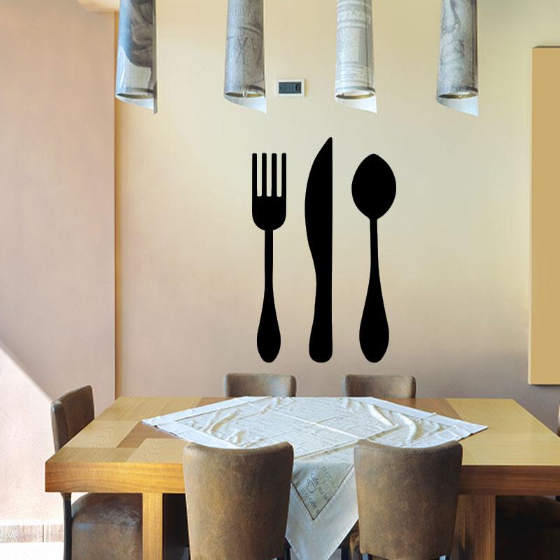 Sticker cuisine Fourchette Couteau de table et cuillère – Stickers Cuisine Us -> Stickers Pour Table De Cuisine