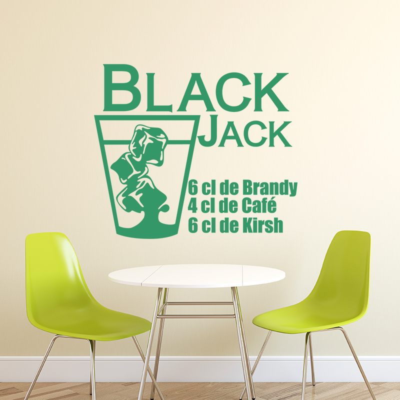 sticker cuisine recette black jack stickers cuisine textes et recettes ambiance sticker. Black Bedroom Furniture Sets. Home Design Ideas