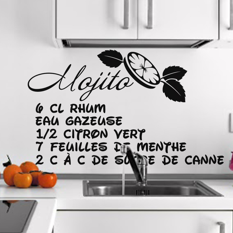 Stickers pour la cuisine table de cuisine design des for Stickers cuisine design
