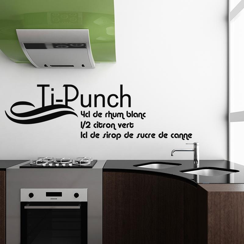 sticker cuisine recette tipunch 4 cl de rhum blanc