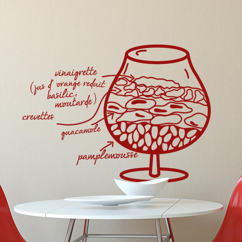 sticker cuisine recette vinaigrette crevettes stickers citations fran ais ambiance sticker. Black Bedroom Furniture Sets. Home Design Ideas