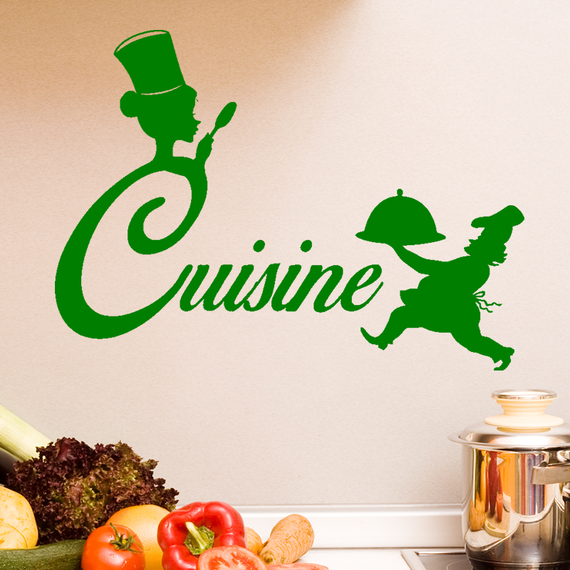 Sticker cuisine silhouette chef de cuisine stickers for Sticker mural cuisine