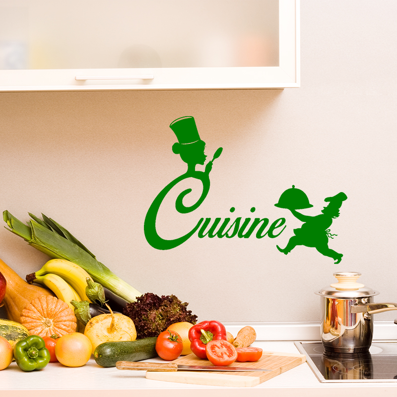 Sticker cuisine silhouette chef de cuisine stickers - What is a chef de cuisine ...