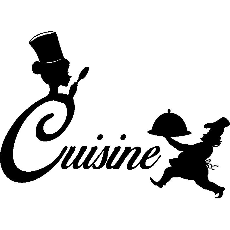 Sticker cuisine silhouette chef de cuisine stickers for Stickers de cuisine