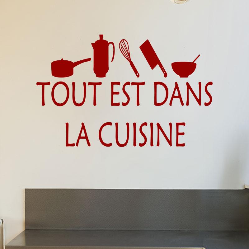 Sticker cuisine tout est dans la cuisine stickers - Toute la cuisine que j aime ...
