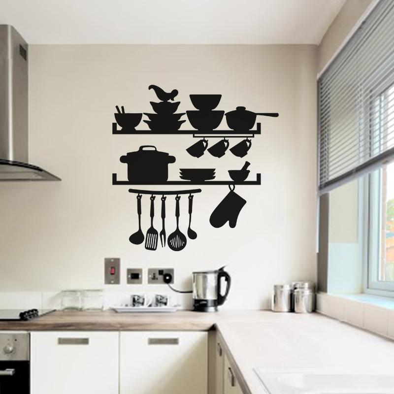 sticker cuisine ustensils marmitte et vaisselles stickers cuisine ustensiles ambiance sticker. Black Bedroom Furniture Sets. Home Design Ideas