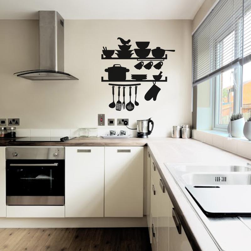 Sticker cuisine ustensils marmitte et vaisselles for Ambiance et tradition cuisine