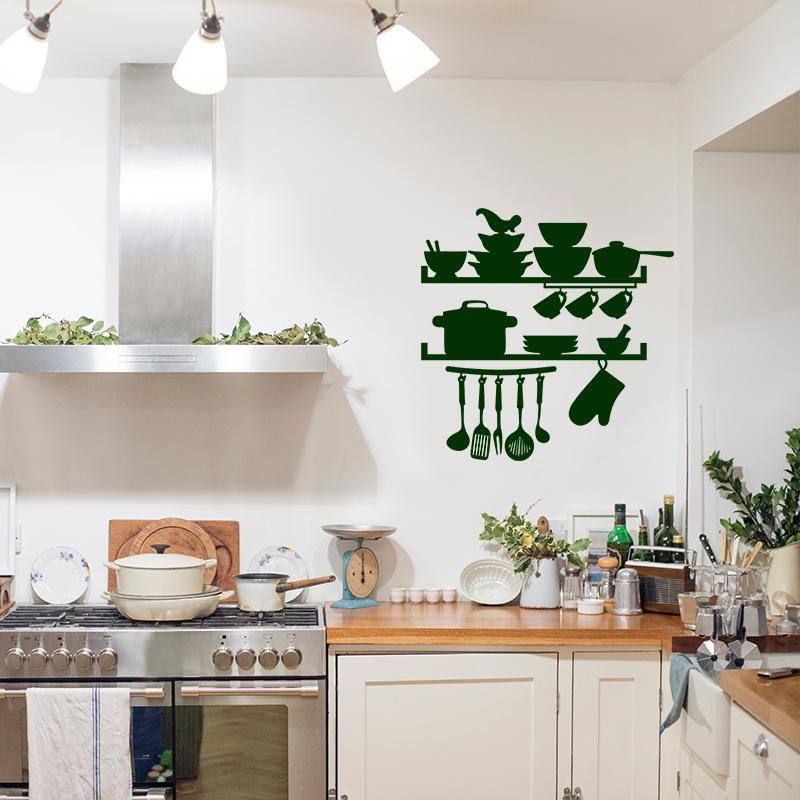 Sticker cuisine ustensils marmitte et vaisselles for Cuisine et ustensiles