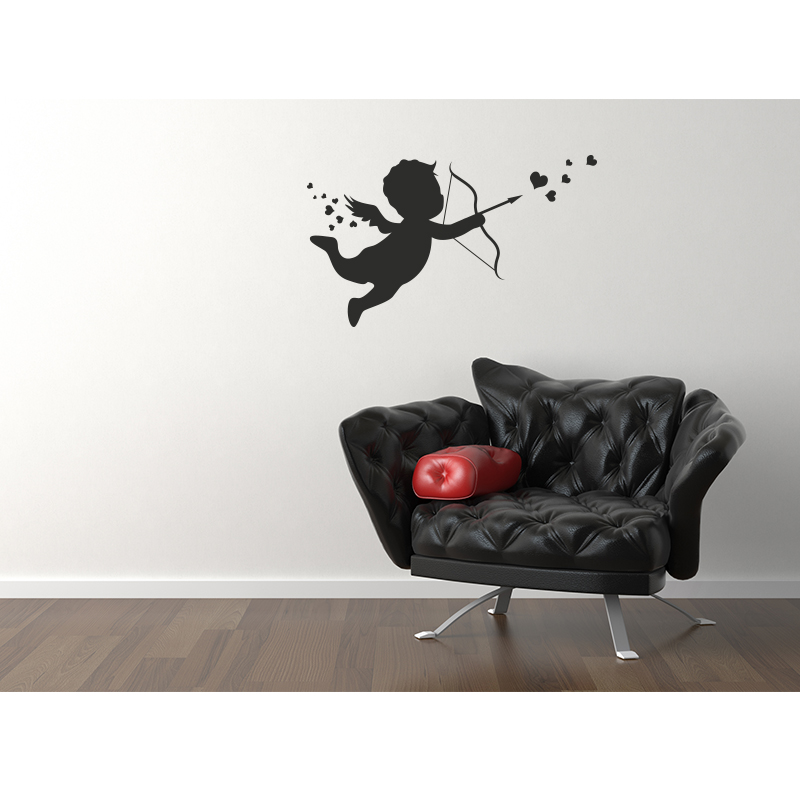 Stickers muraux pour chambre sticker cupidon ambiance - Stickers muraux pour chambre ...