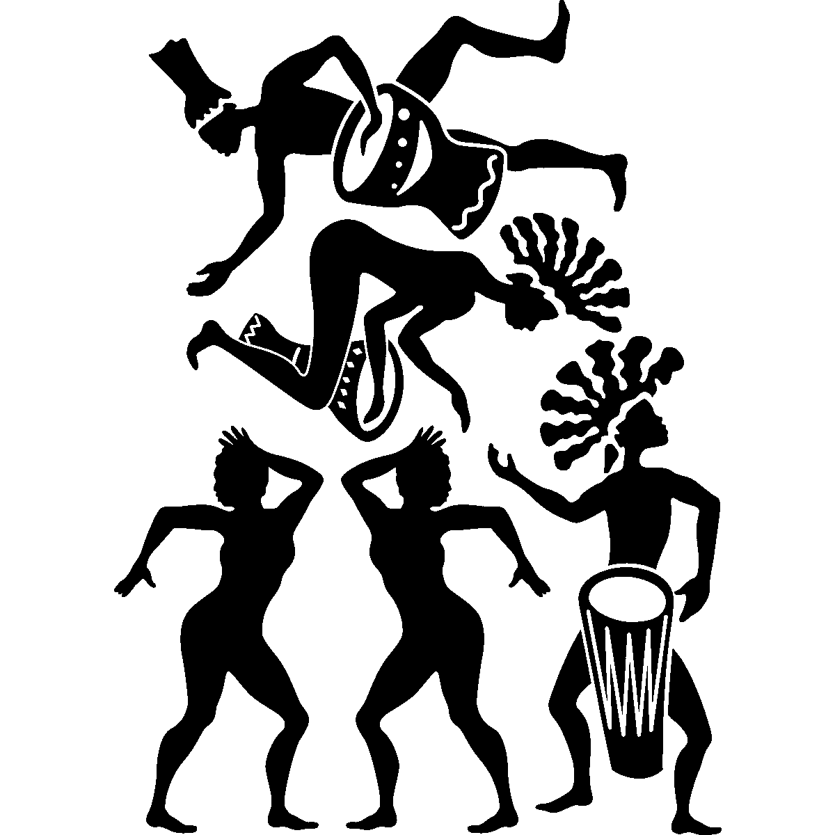 Stickers muraux musique sticker danse africaine for Danse africaine