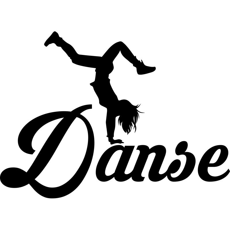 sticker danse contemporaine stickers sports et football danse ambiance sticker. Black Bedroom Furniture Sets. Home Design Ideas