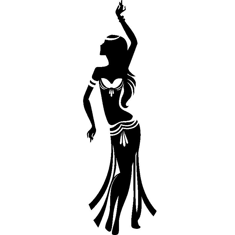 Stickers de silhouettes et personnages sticker danse - Danseuse orientale dessin ...