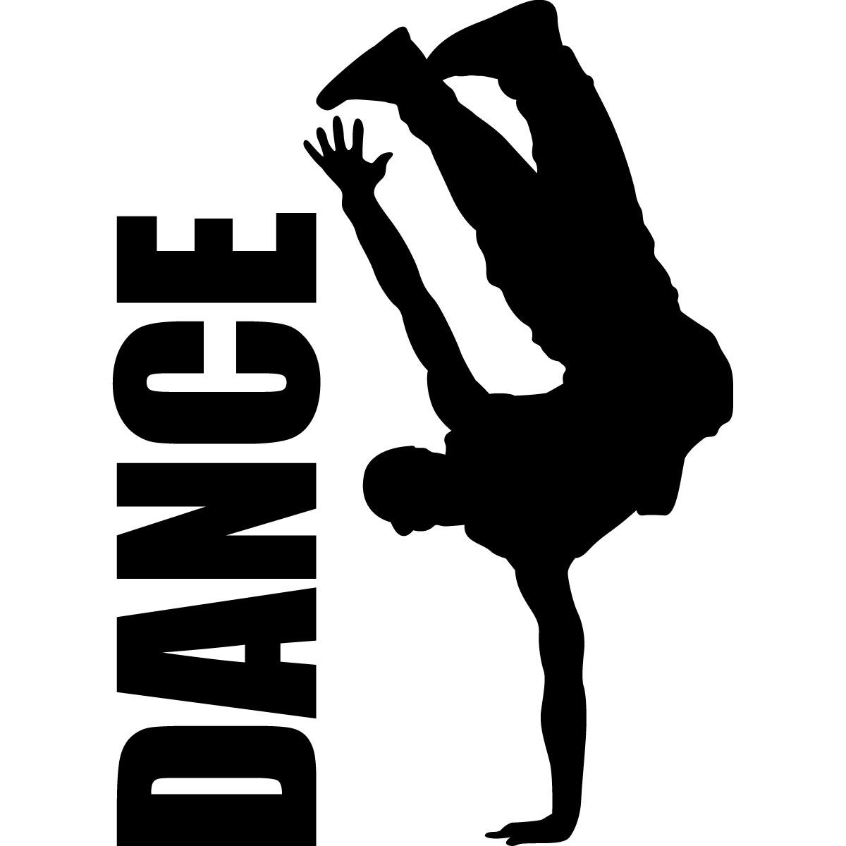 Souvent Stickers muraux de silhouettes et personnages - Sticker danseur de  ZG43