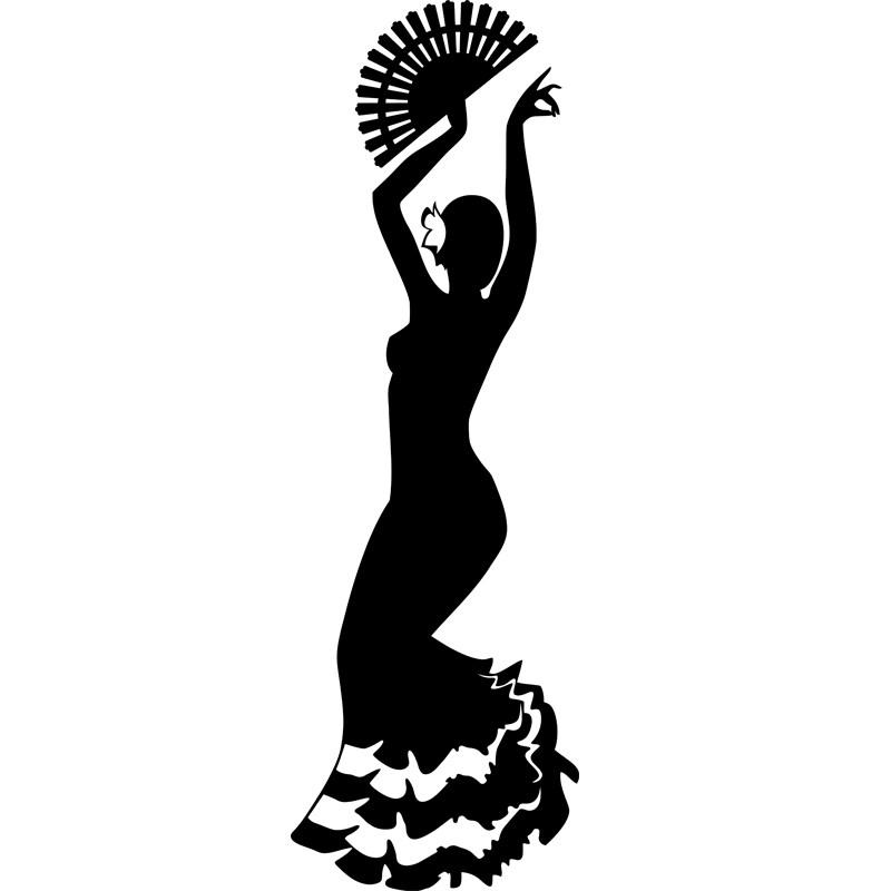 stickers de silhouettes et personnages sticker danseuse salsa ambiance. Black Bedroom Furniture Sets. Home Design Ideas