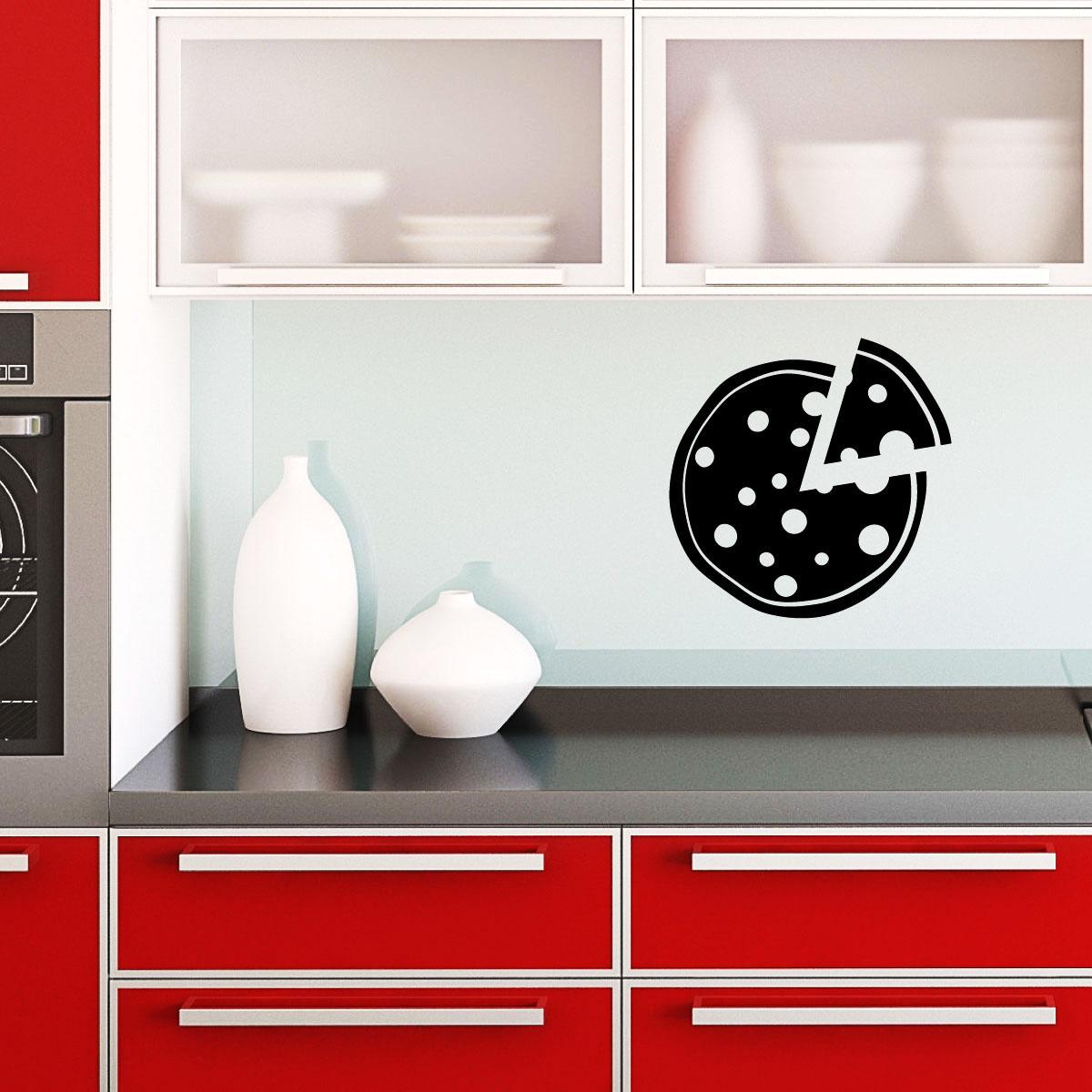 stickers muraux pour la cuisine sticker pizza ambiance. Black Bedroom Furniture Sets. Home Design Ideas