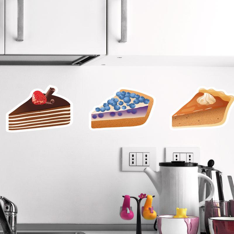 Stickers muraux pour la cuisine sticker 3 morceaux de - Stickers pour la cuisine ...