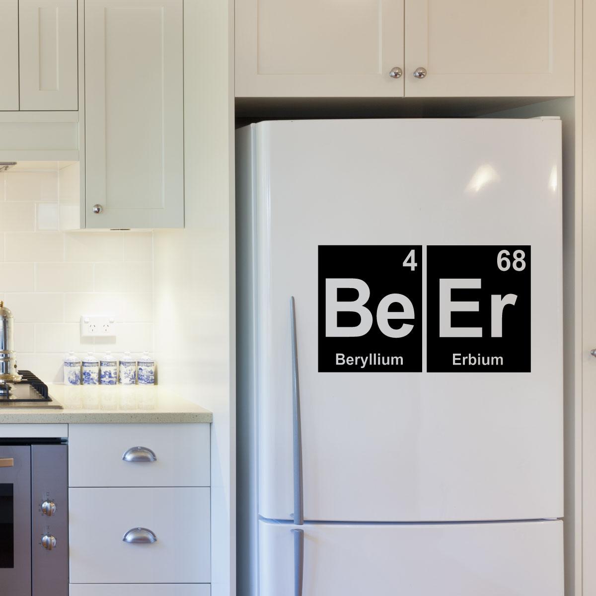 stickers muraux pour la cuisine sticker bi re en l ments lettres ambiance. Black Bedroom Furniture Sets. Home Design Ideas