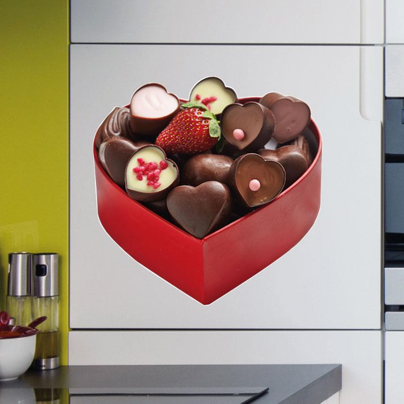stickers muraux pour la cuisine sticker bo te de chocolats ambiance. Black Bedroom Furniture Sets. Home Design Ideas
