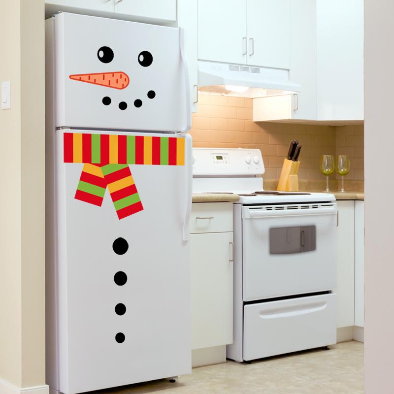 Stickers muraux pour r frig rateur sticker bonhomme de for Stickers rouge pour cuisine