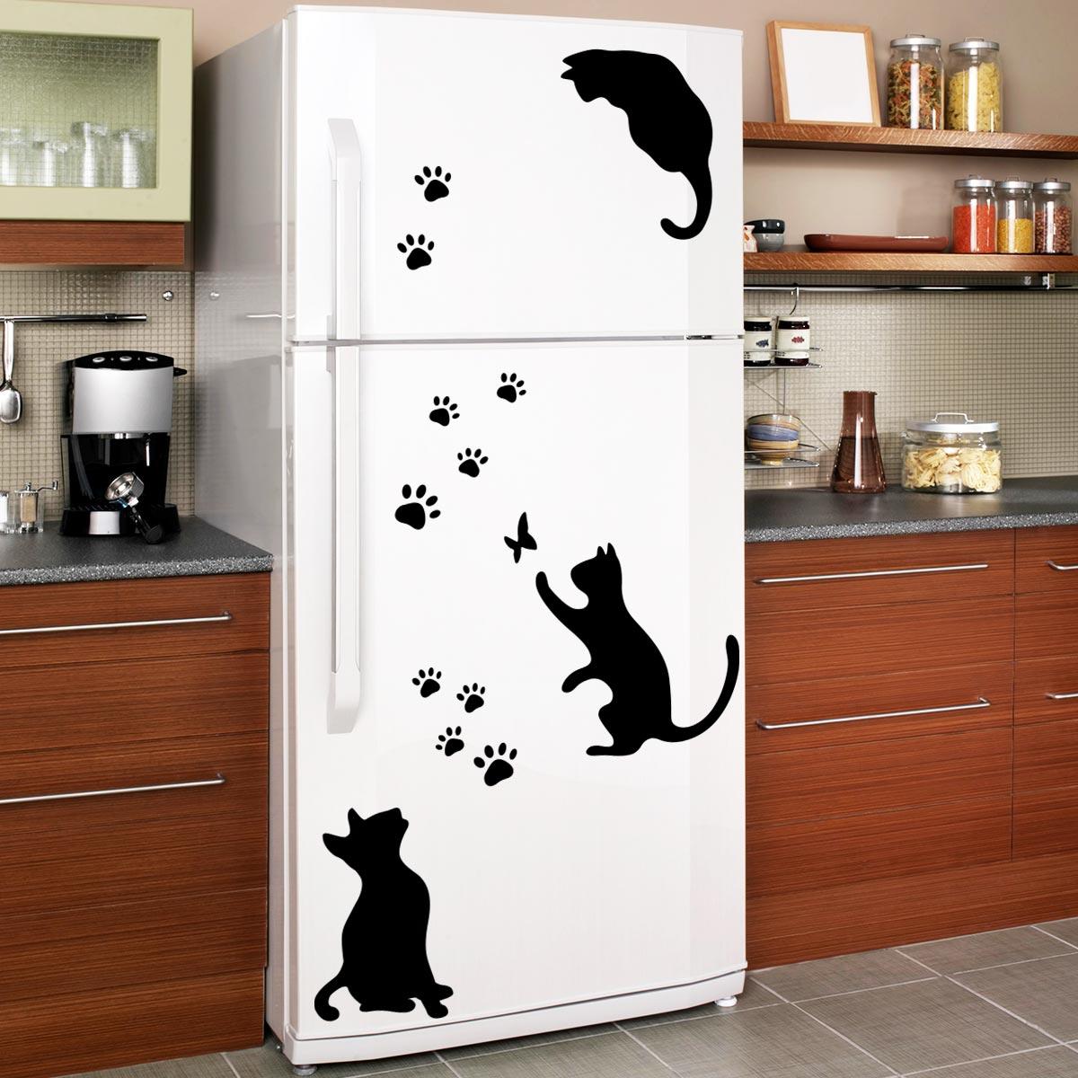 Stickers muraux pour r frig rateur sticker chats et - Stickers pour refrigerateur ...