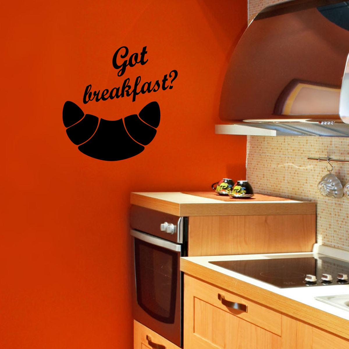 Stickers muraux pour la cuisine sticker croissant - Stickers pour la cuisine ...