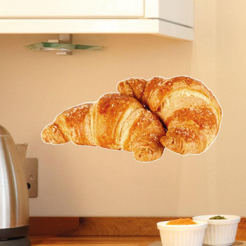 Stickers muraux pour la cuisine sticker croissants for Stickers deco cuisine