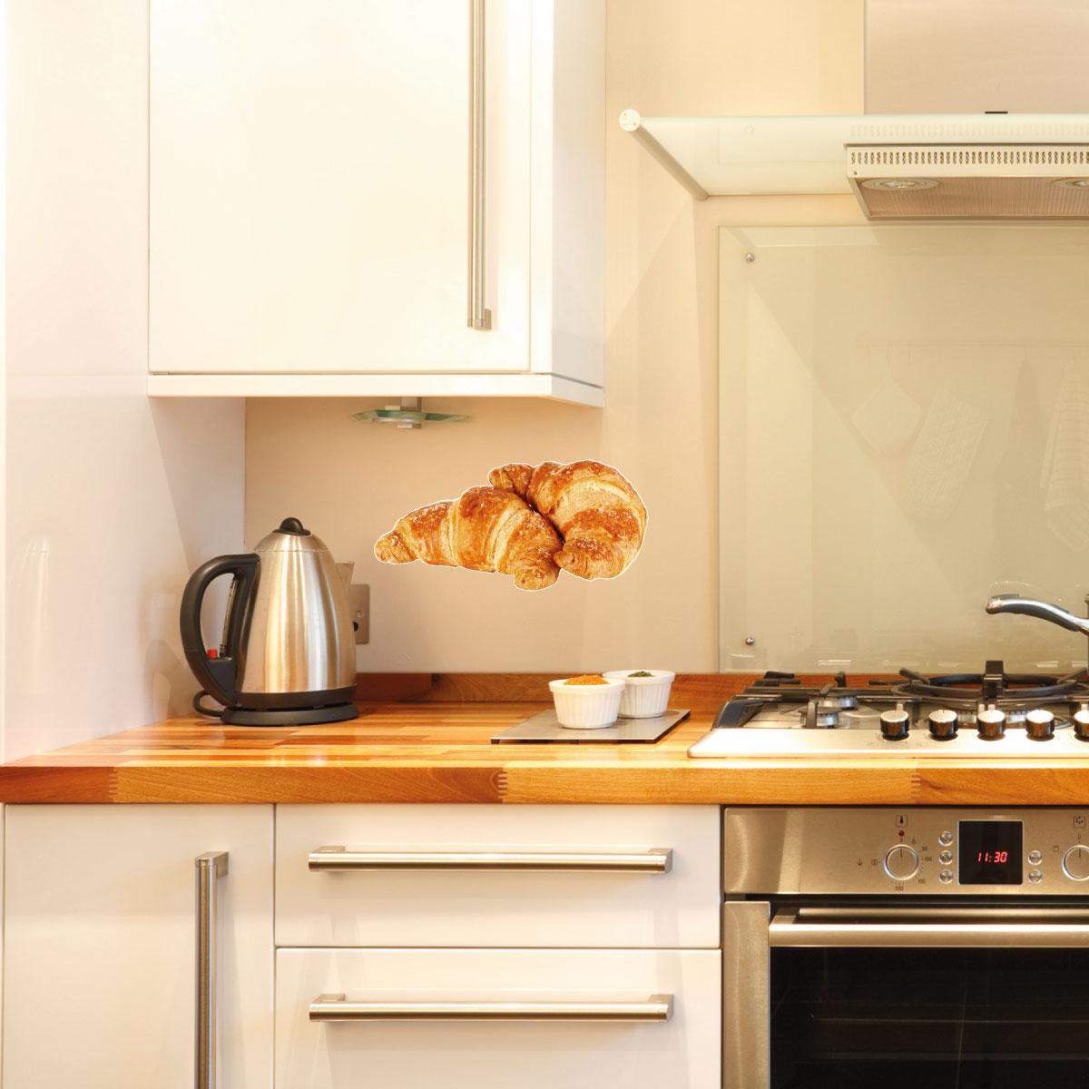 Stickers muraux pour la cuisine sticker croissants - Stickers pour la cuisine ...