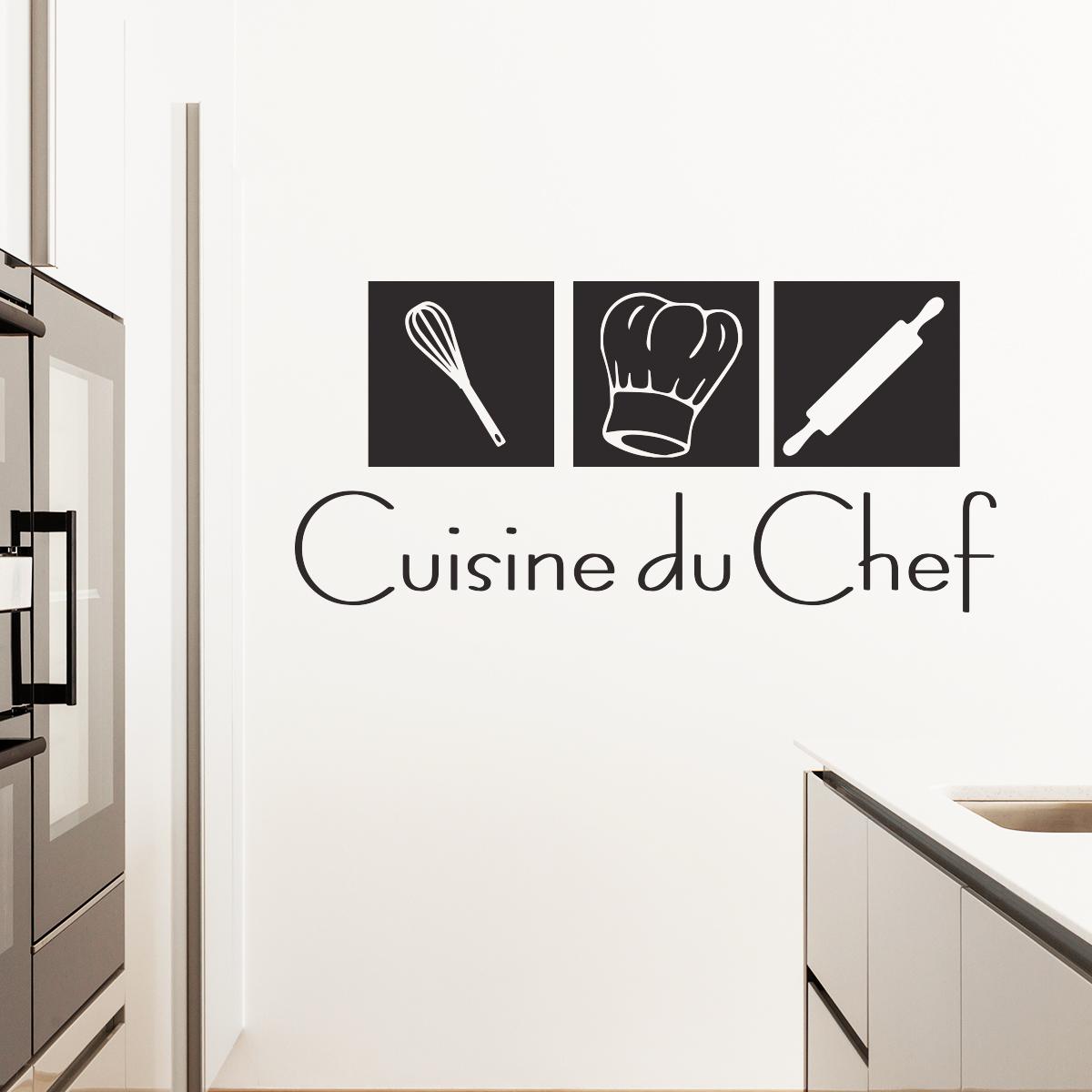 stickers muraux pour la cuisine sticker cuisine du chef. Black Bedroom Furniture Sets. Home Design Ideas