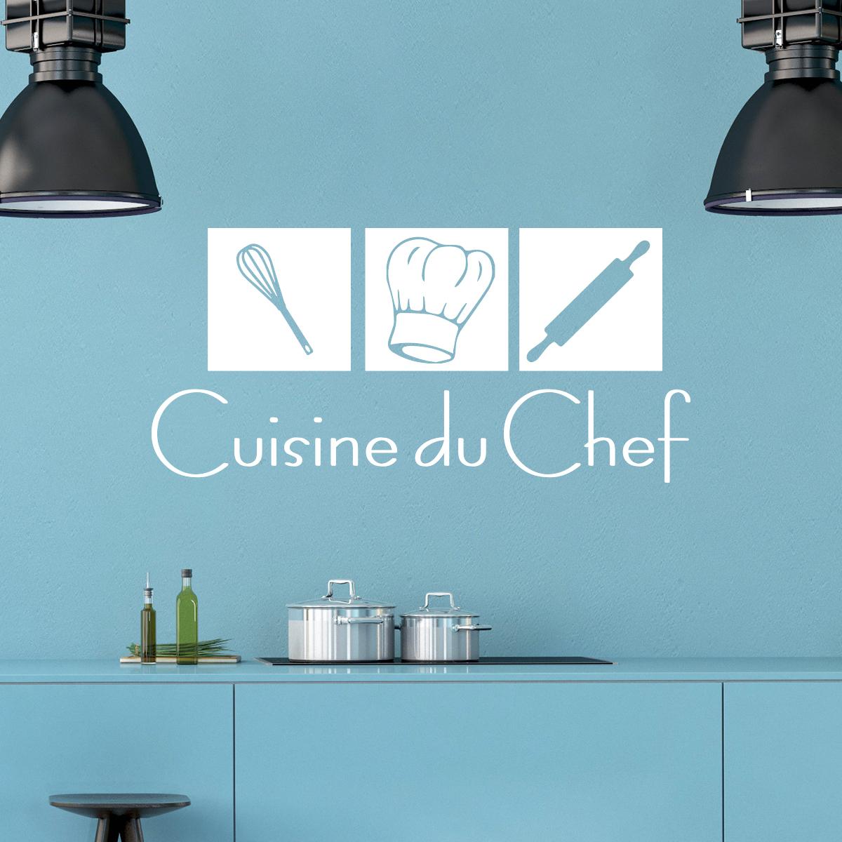 Stickers muraux pour la cuisine sticker cuisine du chef - Stickers pour la cuisine ...