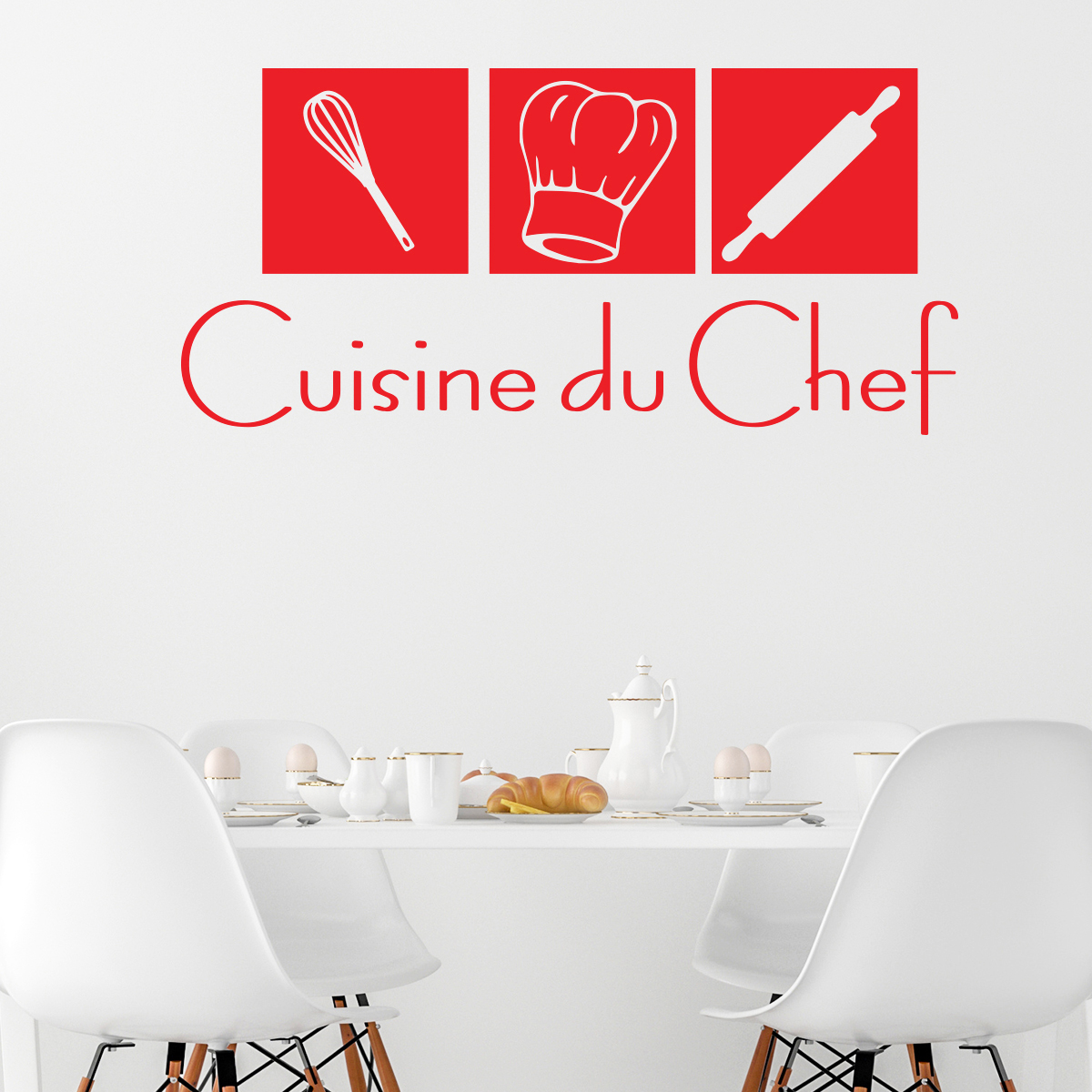 stickers muraux pour la cuisine sticker cuisine du chef ambiance. Black Bedroom Furniture Sets. Home Design Ideas