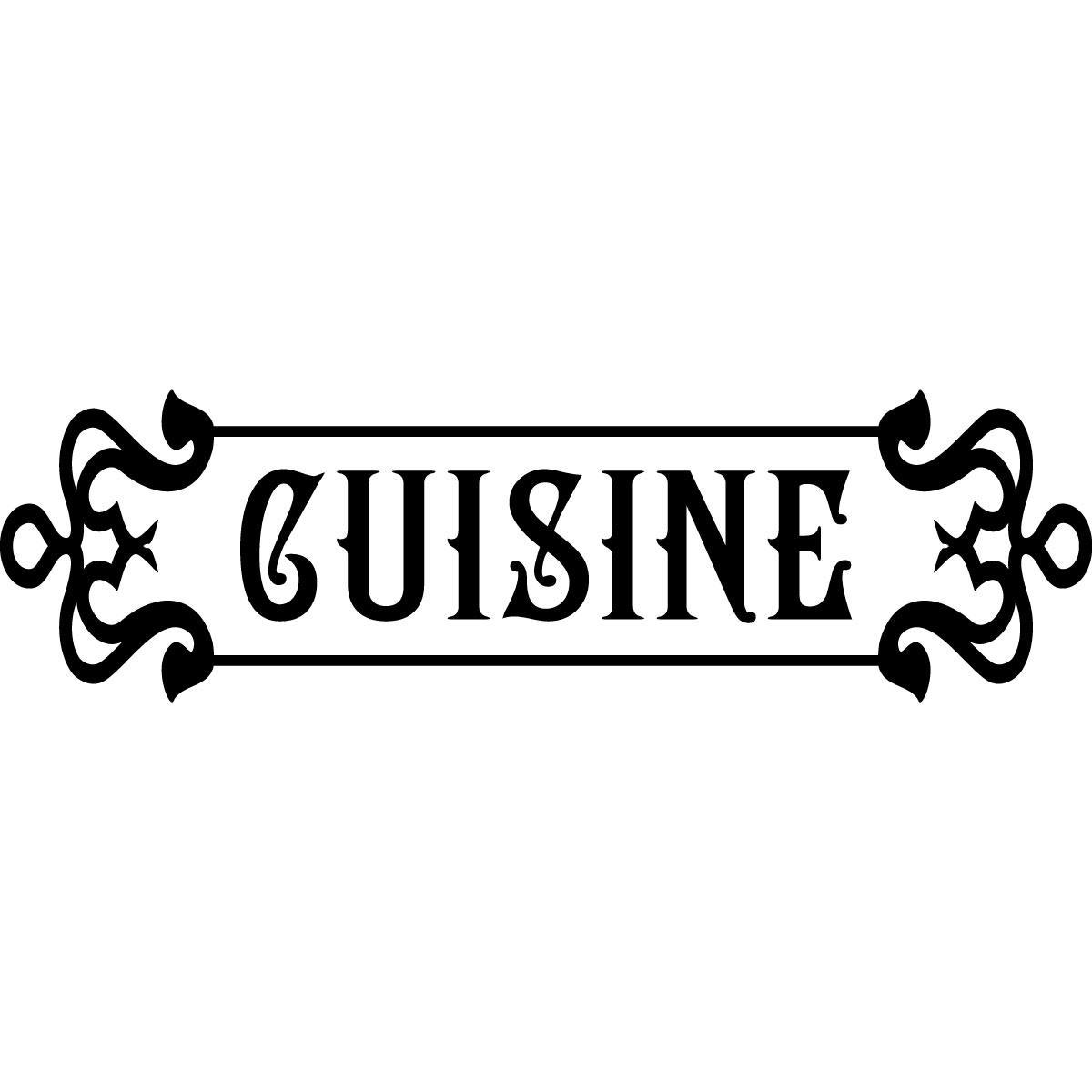 Stickers muraux pour la cuisine sticker cuisine r tro ambiance - Stickers pour cuisine rouge ...